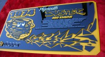 3-D car show sign board